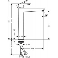 Смеситель для раковины Hansgrohe Talis E 240 Matt White 71717700