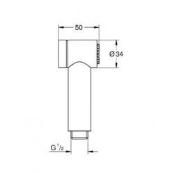 Ручной гигиенический душ Grohe Sena Trigger 26328000