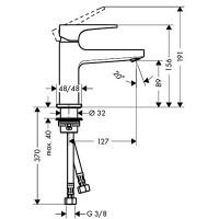 Смеситель для раковины Hansgrohe Metropol с донным клапаном Push-Open Matt White 32500700