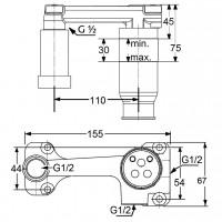 Скрытая часть смесителя Kludi 38243