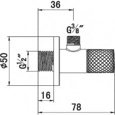 Угловой вентиль KLUDI 3/8 DN 17, 1584605-00