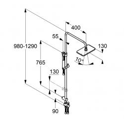 Душевая система Kludi A-QA 4919105-00