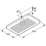 Верхний душ Kludi A-QA 4940205-00