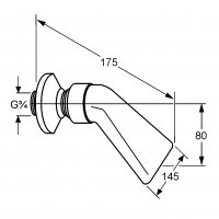 Верхний душ DN 20 Kludi A-QA 6051105-00