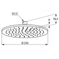 Верхний душ Kludi A-QA 6432591-00