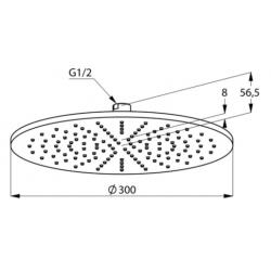 Верхний душ Kludi A-QA 6433087-00 черный матовый/хром