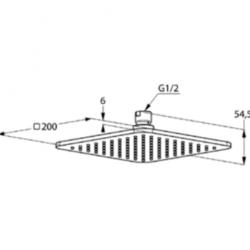 Верхний душ Kludi A-QA 6452005-00