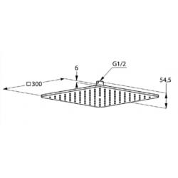 Верхний душ Kludi A-QA 6453005-00