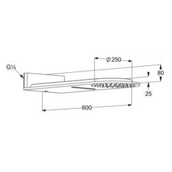 Верхний душ Kludi A-QA 6488087-00 черный матовый/хром