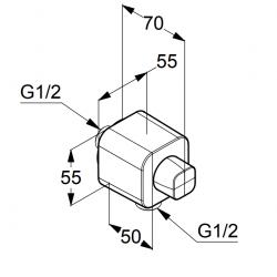 Шланговое подключение Kludi A-QA 6554405-00