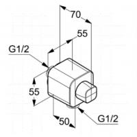 Шланговое подключение Kludi A-QA 6554505-00