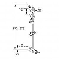Душевая штанга Kludi A-QA 6564105-00