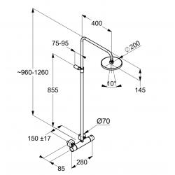Душевая система с термостатом Kludi A-QA 6608105-00