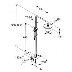 Душевая система Kludi A-QA 6609105-00