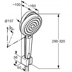 Душевой гарнитур для ванны Kludi A-QA 6615005-00