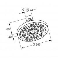 Верхний душ Kludi A-QA 6652105-00