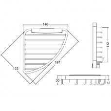Угловая металлическая полочка Kludi A-XES 4898705
