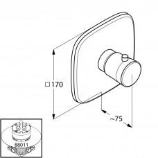 Верхняя часть смесителя для душа Kludi AMBIENTA с термостатом 537290575