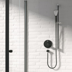 Внешняя часть термостата для ванны и душа Kludi BALANCE 528308775 черный матовый
