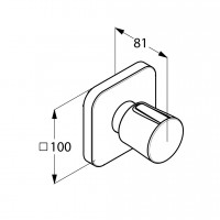 Вентиль для скрытого монтажа Kludi E2 498150575