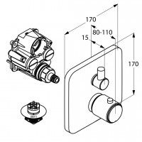 Термостат для ванны и душа Kludi E2 498300575