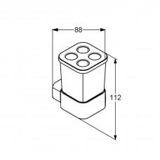 Универсальный стакан с держателем Kludi E2 4998205