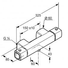 Термостатический смеситель для душа Kludi Q-BEO, 504000565