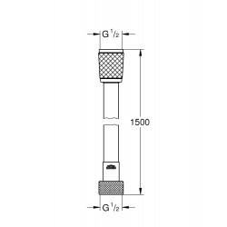 Душевой шланг GROHE Relexaflex, 28151001