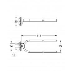 Двойной держатель для полотенец неповоротный Grohe Selection 41059000