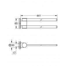 Двойной держатель для полотенец Grohe Selection 41063000