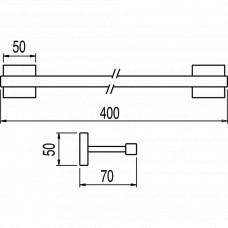Держатель для полотенца Tres Cuadro-Tres, 40 см, 10763601