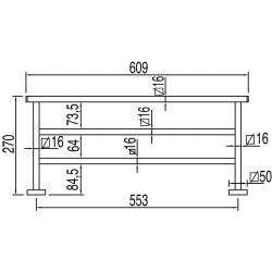 Полочка для полотенец Tres Cuadro-Tres, 40 см, 10763608
