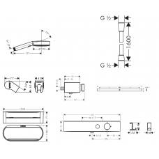 Душевой набор Hansgrohe WallStoris с термостатом и штангой для душа 24250670